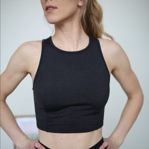 Tops - Grey workout crop top